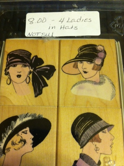 4 Ladies in Hats -- Not Stampin Up!